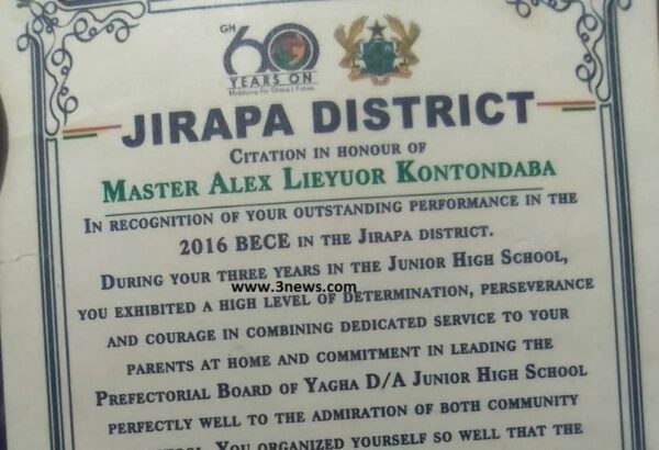Jirapa best student now serving on farms after inability to pay for KNUST admission