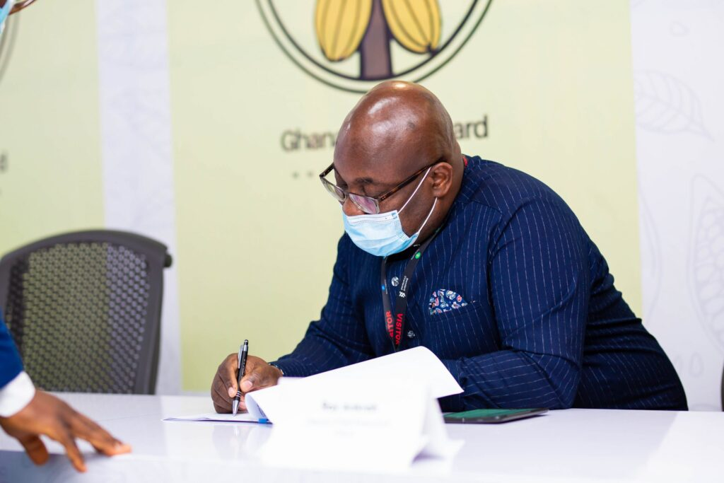 COCOBOD signs us$1.5 billion syndicated finance facility for 2021/2022 cocoa season