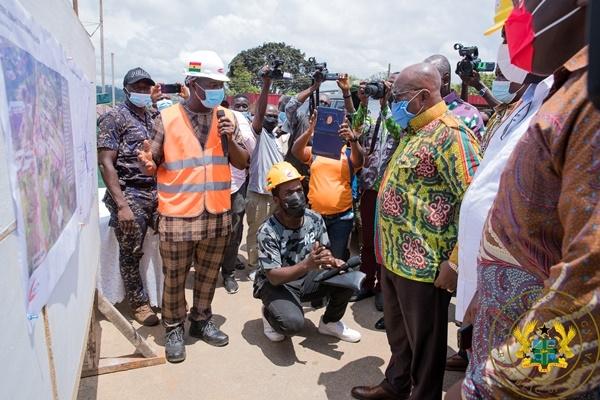 Akufo-Addo inspects €4m Atibie Hospital project, $77m Mpraeso-Onyimso road