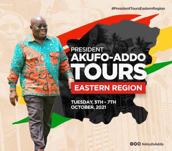 Akufo-Addo begins Eastern Region tour