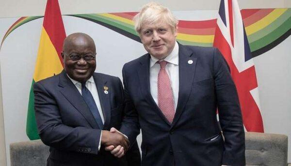 Akufo Addo Boris Johnson scaled