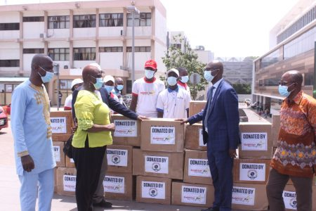 Goldstar Air, SEF donate PPEs to Ridge Hospital