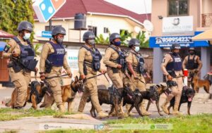 Ghana Police launches dog patrol operations to fight Crime